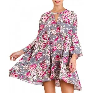 Umgee floral batwing sleeve dress